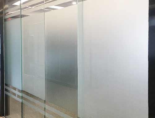 磨砂玻璃隔断