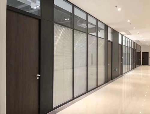 双层百叶玻璃隔断墙