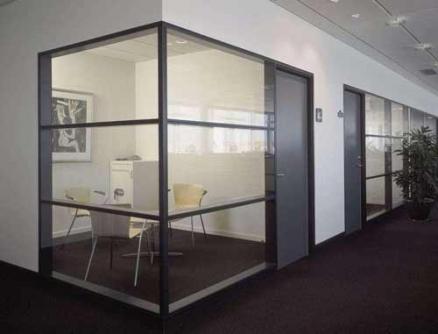 透明玻璃隔断安装